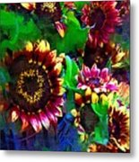 Sunflower Carnival Metal Print