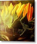 Sunflower Crown Metal Print