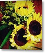Sunflower Decor 3 Metal Print