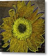 Sunflower Dreaming Metal Print