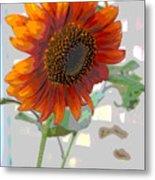 Sunflower Fun II Metal Print