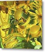 Sunflower Orb Glow Metal Print
