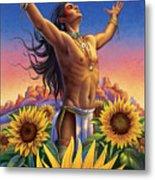 Sunflower - Glorious Success Metal Print by Anne Wertheim