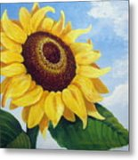 Sunflower Moment Metal Print