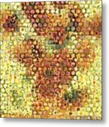 Sunflower Mosaic Metal Print