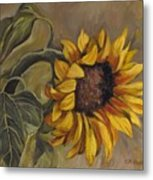 Sunflower Nod Metal Print