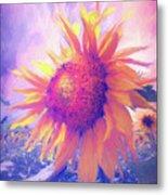 Sunflower Oil Painting Metal Print