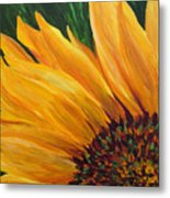 Sunflower Oil Painting Metal Print