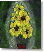 Sunflower Season - Www.jennifer-d-art.com Metal Print