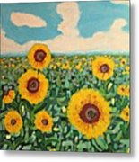 Sunflower Serendipity Metal Print
