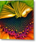 Sunflower Smoothie Metal Print