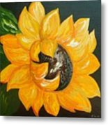 Sunflower Solo Metal Print
