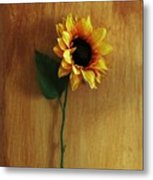 Sunflower Standing Metal Print