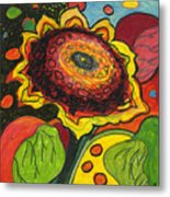 Sunflower Surprise Metal Print by Jennifer Lommers