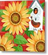 Sunflower Surprise Metal Print