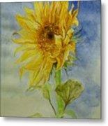 Sunflower Tribute To Van Gogh Metal Print