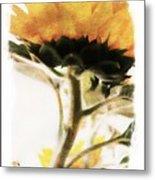 Sunflower Watercolor Metal Print
