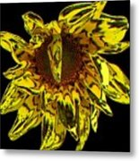 Sunflower With Stone Effect Metal Print