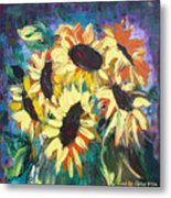 Sunflowers 2 Metal Print