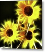 Sunflowers-4955-fractal Metal Print