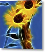 Sunflowers-4969-fractal Metal Print