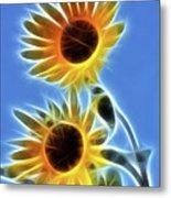 Sunflowers-5246-fractal Metal Print