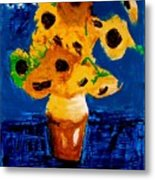 Sunflowers After Vincent Van Gogh Metal Print