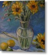 Sunflowers And Citrus Metal Print