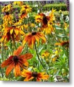 Sunflowers And Friends Metal Print