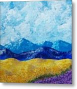 Sunflowers And Lavender In Provence Metal Print