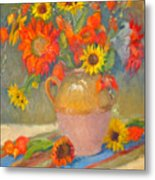 Sunflowers And More Metal Print
