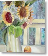 Sunflowers And Peaches Metal Print