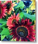 Sunflowers At A Fair Metal Print