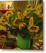 Sunflowers At The Market Metal Print