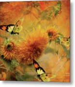 Sunflowers Metal Print by Carol Cavalaris
