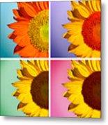 Sunflowers Collage Metal Print
