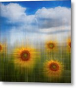 Sunflowers Dreamscape Metal Print