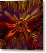 Sunflowers Expressive Metal Print