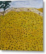 Sunflowers Field 1998. Metal Print