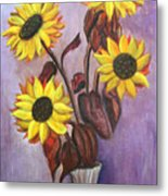 Sunflowers For My Daughter Metal Print