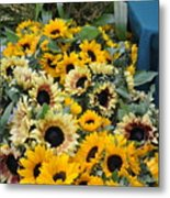 Sunflowers For Sale Metal Print
