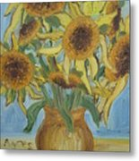 Sunflowers II. Metal Print