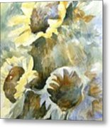 Sunflowers Ill Metal Print