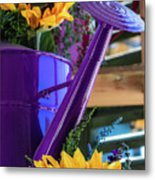 Complementary Sunflowers Metal Print