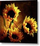 Sunflowers In Shadow Metal Print