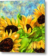 Sunflowers On Holiday Metal Print