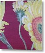 Sunflowers On The Run Metal Print