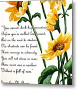 Sunflowers  Poem Metal Print