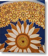 Sunflowers Rich In Blooming Metal Print
