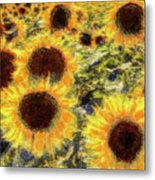 Sunflowers Summer Van Gogh Metal Print